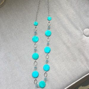 Long Blue Old Navy Necklace